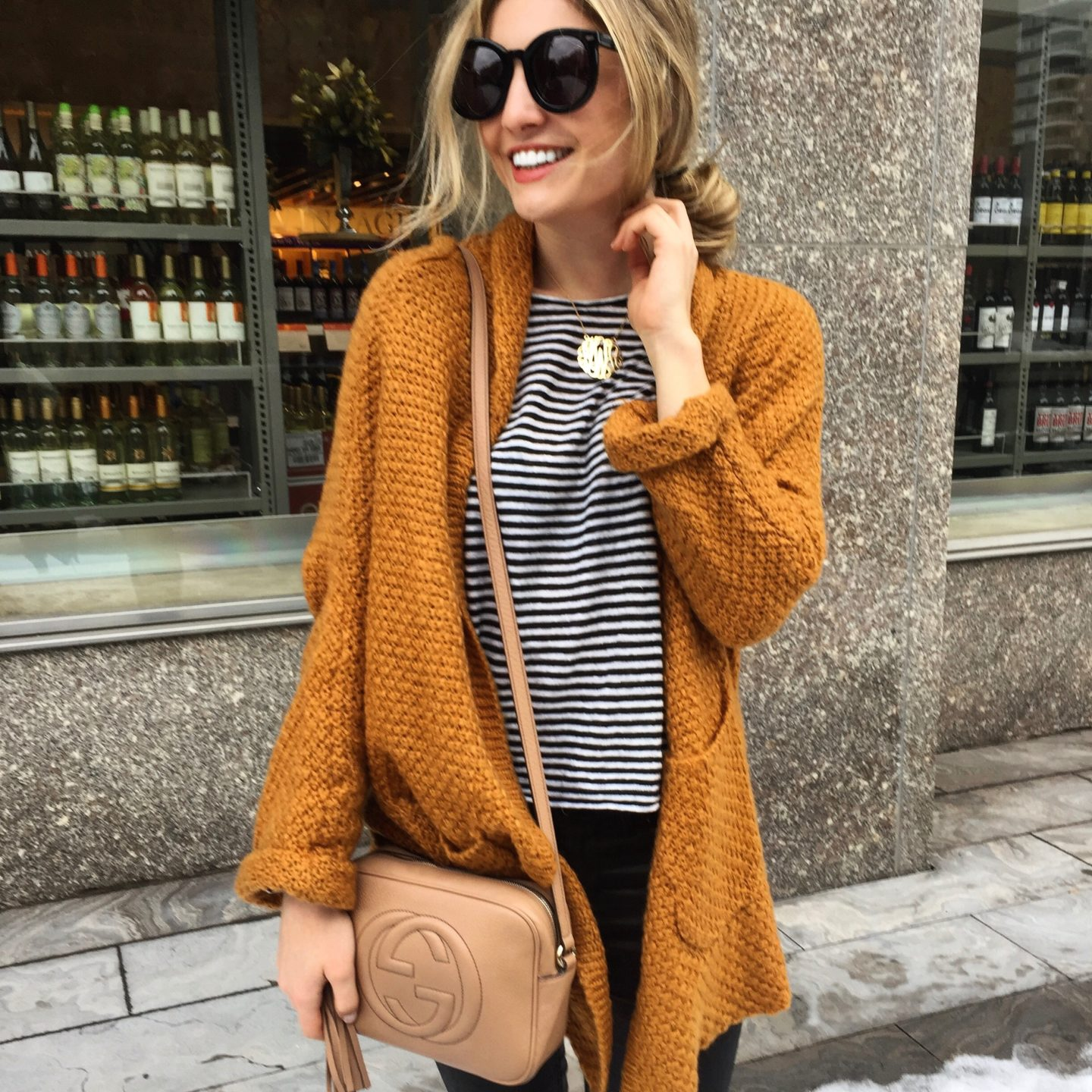 Burnt Orange, Oversized, Comfy Cozy Cardigan - The Blonde in Pink